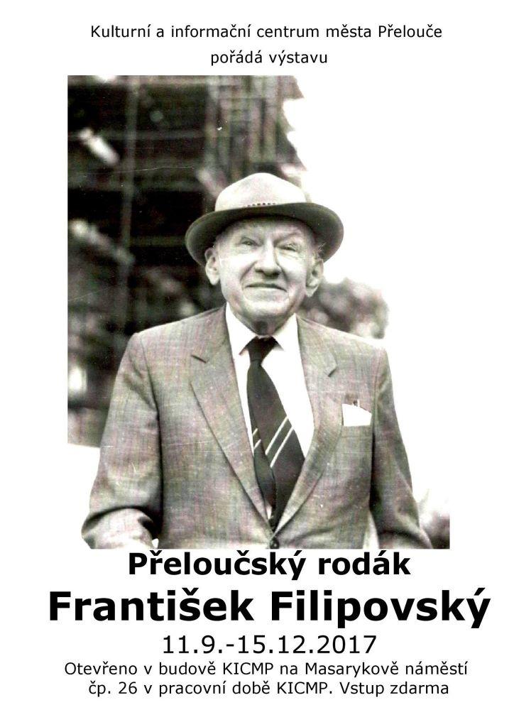 """Výstava """"Přeloučský rodák František Filipovský"""" 1"""