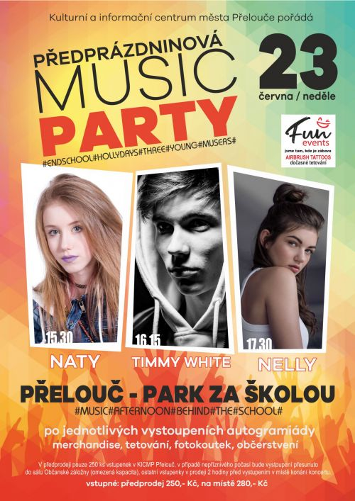 PŘEDPRÁZDNINOVÁ MUSIC PARTY