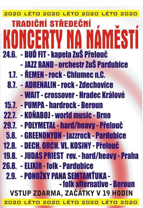 koncerty středeční